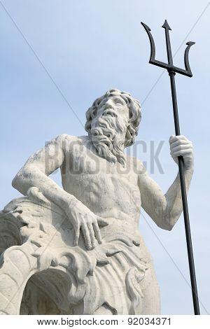 The statue of Neptune in Trieste