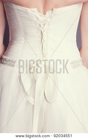 Brides Back In Wedding White Dress
