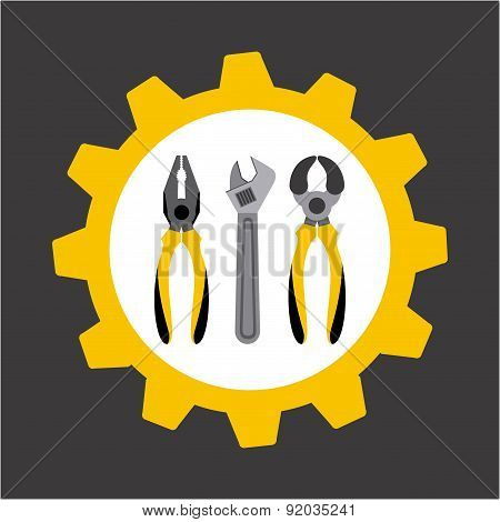 Tools design over gray background vector illustration