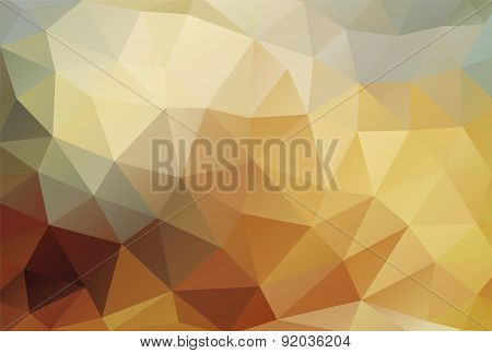 Polygon Background Bronze Gold