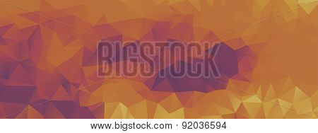 Polygon Background Purple And Light Orange, Wide Screen