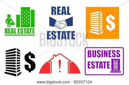 Set Business Estate Icons