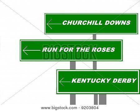 Kentucky Derby Sign