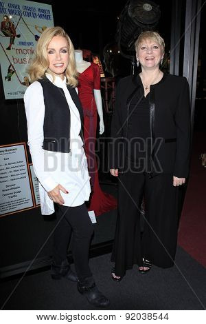 LOS ANGELES - MAY 27: Donna Mills, Alison Arngrim at the Marilyn Monroe Missing Moments preview at the Hollywood Museum on May 27, 2015 in Los Angeles, California
