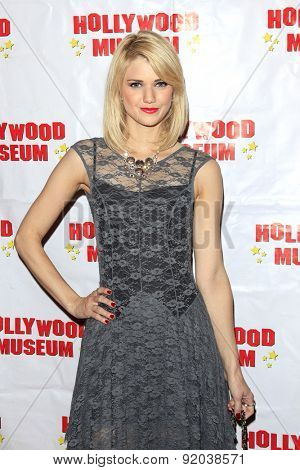 LOS ANGELES - MAY 27: Katie Gill at the Marilyn Monroe Missing Moments preview at the Hollywood Museum on May 27, 2015 in Los Angeles, California