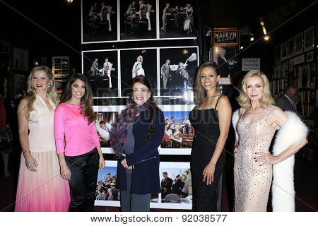 LOS ANGELES - MAY 27: Crystal Hunt, Lindsay Hartley, Donelle Dadigan, Chrystee Pharris, Donna Mills at the Marilyn Monroe Missing Moments at the Hollywood Museum on May 27, 2015 in Los Angeles, CA