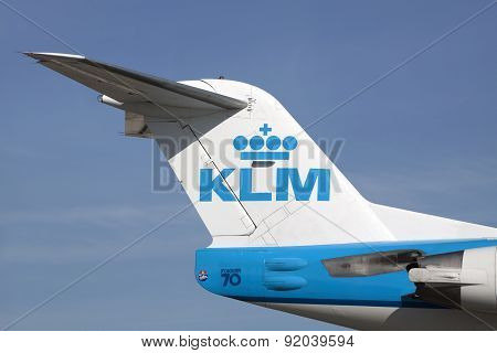 Famous Dutch Fokker 70 airplane.