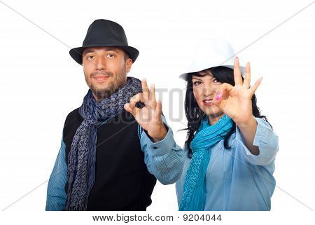 Casual Cool Couple With Hat