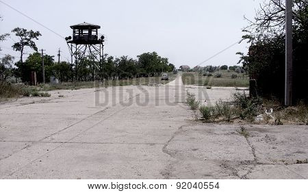 Dirty broken Chernobyl abandoned buildings, vacant lots, the infected area, tower
