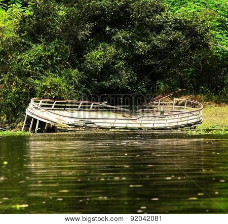Shipwreck in Amazon rain forest