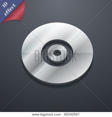 Cd Or Dvd Icon Symbol. 3D Style. Trendy, Modern Design With Space For Your Text Vector