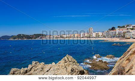 Waterfront of LLoret de Mar Costa Brava Spain