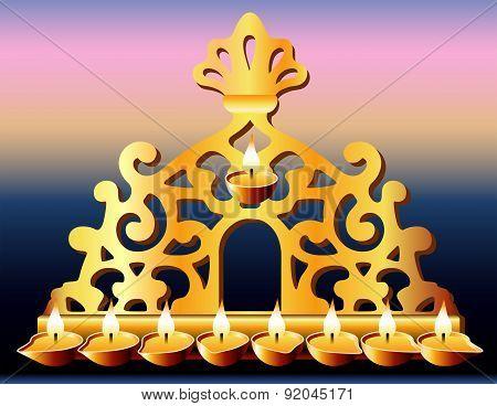 16Th Century Italy Hanukkah Menorah.
