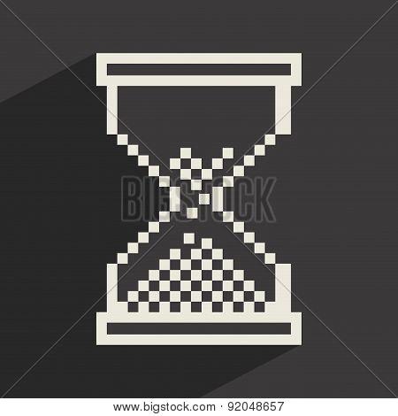 Time design over gray background vector illustration