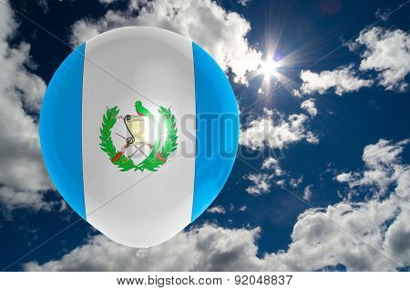 Balloon With Flag Of Guatemala On Sky