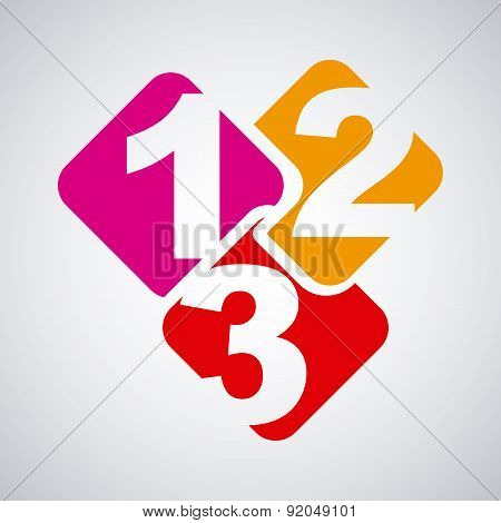 Numbers design over gray background vector illustration