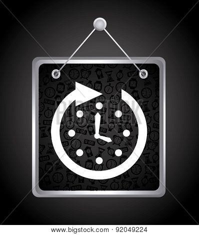 Time design over black background vector illustration