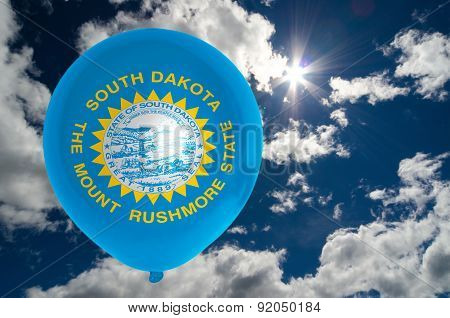 Balloon With Flag Of South Dakota On Sky