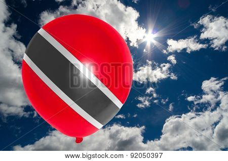 Balloon With Flag Of Trinidad And Tobago On Sky