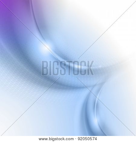 Abstract blue background with circle