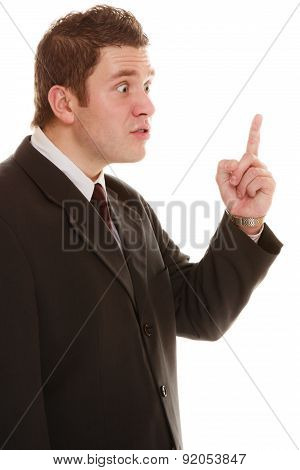 Furious Teacher Or Business Man Shaking Finger