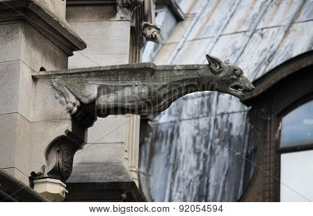 Gargoyle in Saint Germain l'Auxerrois church