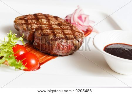 meat steak with sauce