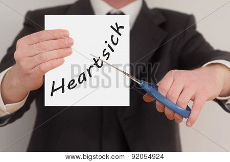 Heartsick, Determined Man Healing Bad Emotions