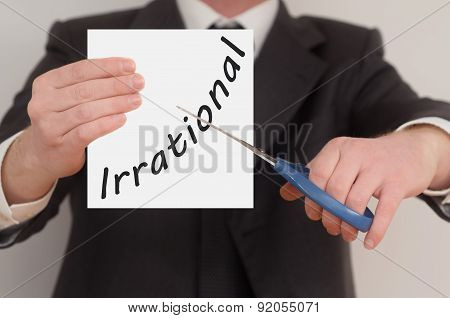 Irrational, Determined Man Healing Bad Emotions