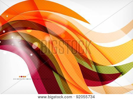 Purple and orange color lines, glossy background
