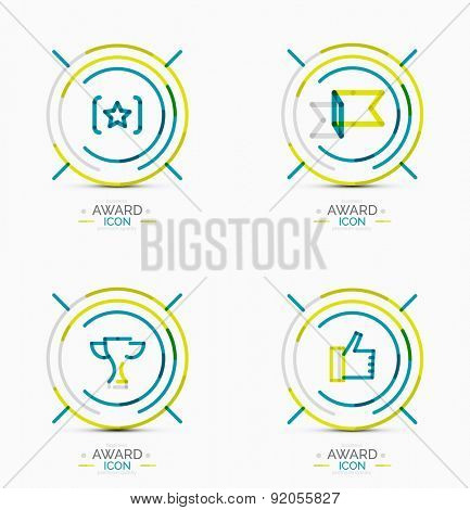 Set of Award icons, Logos. Modern business symbol, minimal outline design