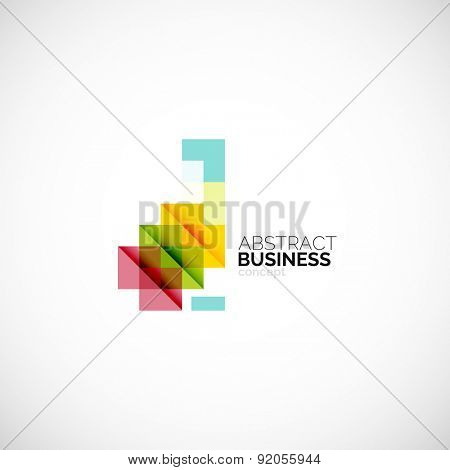 Square concept, company logo design element. Colorful modern symbol