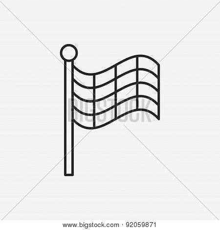 Racing Flag Line Icon