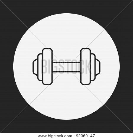 Dumbbell Line Icon