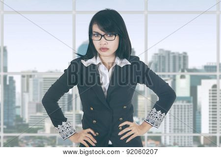 Bossy Female Entrepreneur In Office