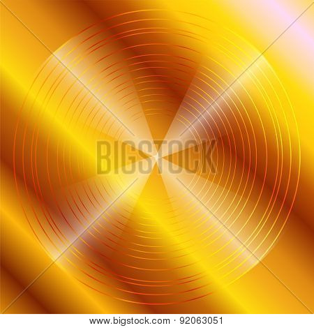 Abstract circular dark golden Background Design template