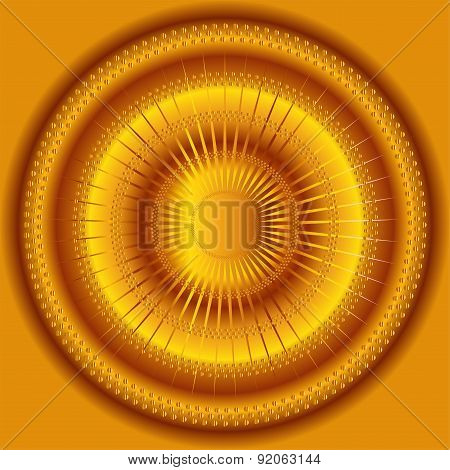 Abstract circular gold background