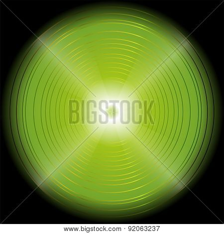Abstract circular green light Background template