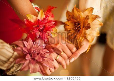 Three Girls Shaken Hands