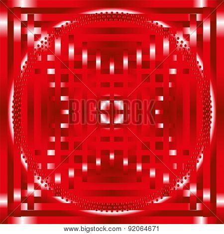 Red stripe circle Background