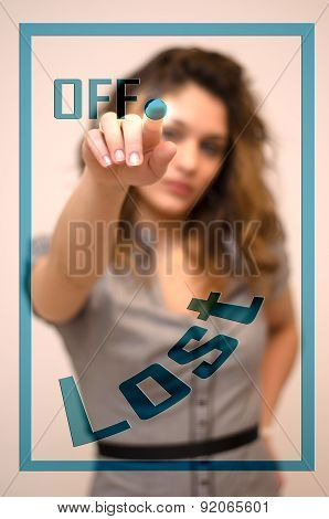 Woman Turning Off Lost On Panel