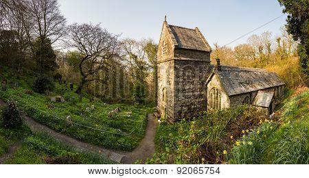 Minster Church In Valency Woods Near Boscastle