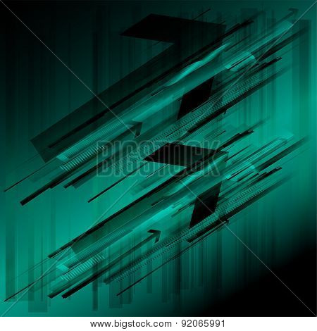 Abstract arrow background template