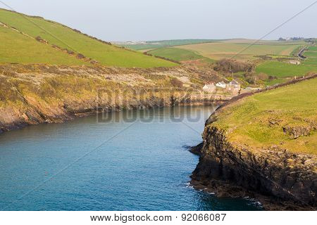 South West Coast Path Near Port Quin Cornwall