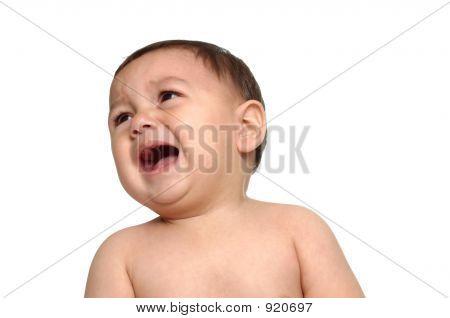 Baby Boy Crying After Bath