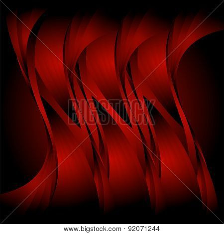 Abstract wavy red background design templates