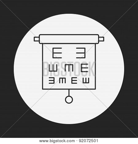 Eye Chart Line Icon