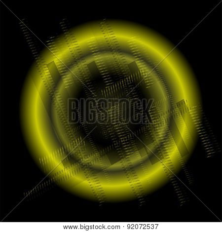 Abstract technology background blue circular design template