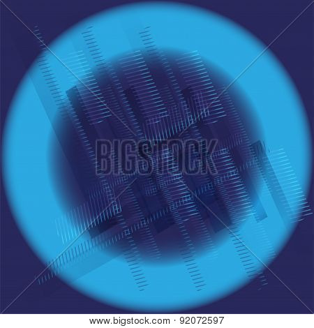 Abstract technology round blue black