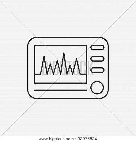 Ecg Line Icon